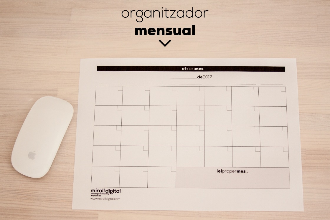 planners el meu mes planer mirall digital marketing reus